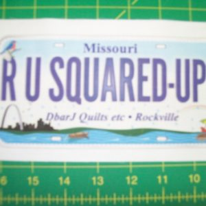 DbarJ Quilts etc License Plates